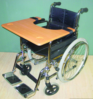Tablette support pour fauteuil roulant for Acheter chaise roulante