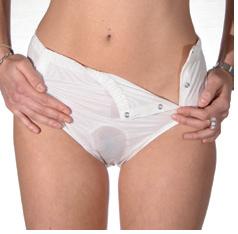 Culottes slip incontinence l g re mod r e panier d for Calecon avec slip interieur