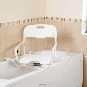 siege de bain suspendu ajustable en largeur. Black Bedroom Furniture Sets. Home Design Ideas