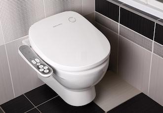 Abbattants de toilettes wc handicapes - Wc avec douchette anale ...