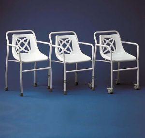 Chaise de douche harrogate reglable en hauteur - Chaise de bureau reglable en hauteur sans roulette ...