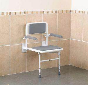 siege de douche mural avec accoudoirs. Black Bedroom Furniture Sets. Home Design Ideas