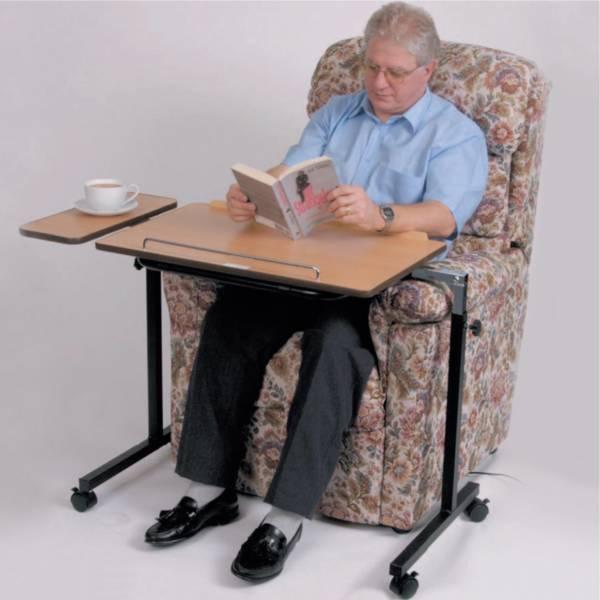 Table de lit ou de fauteuil ajustable - Table pour fauteuil roulant ...